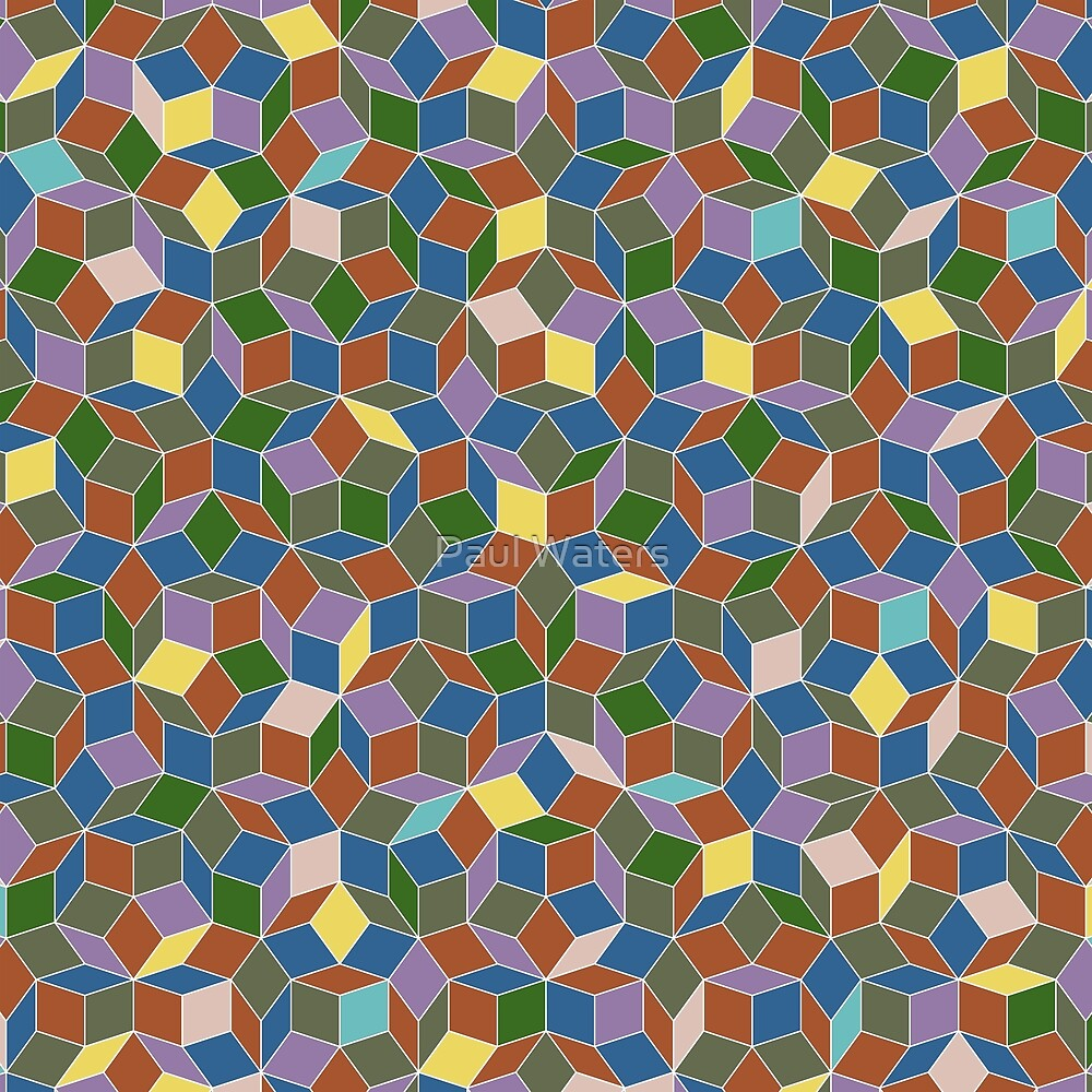 Stained glass penrose tiling by paul waters redbubble stained glass penrose tiling dailygadgetfo Images