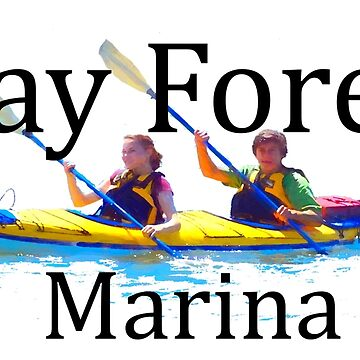 Bay Forest MARINA black font for light backgrounds  by TSachse