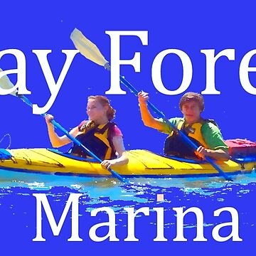 Bay Forest Marina Tee with white font for dark background  by TSachse