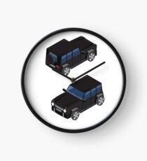 Isometric Transportation. Offroad Car. Isometric Car. Clock
