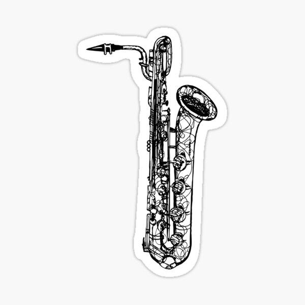 Baritone Saxophone Sticker