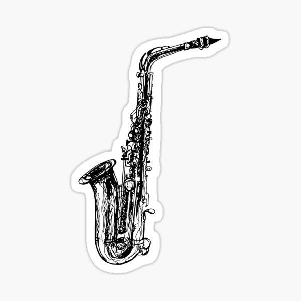 Alto Saxophone Sticker