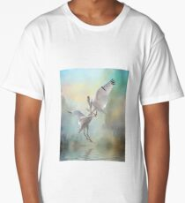 Duelling White Ibises Long T-Shirt