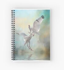 Duelling White Ibises Spiral Notebook