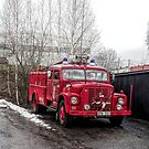 fire truck in fagersta by Barry W  King