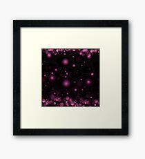 Purple Light Bokeh Framed Print
