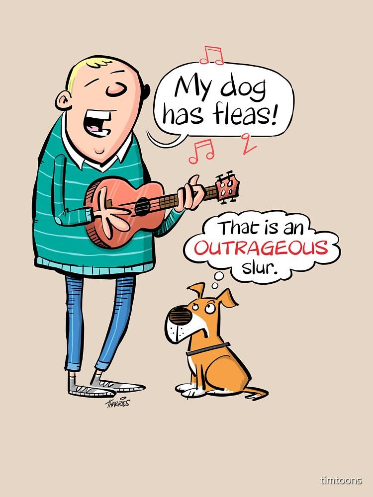 Mi perro tiene pulgas - dibujos animados Ukulele de timtoons