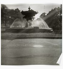 Pinhole Fountain Poster