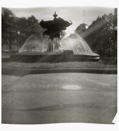 Pinhole Fountain Poster