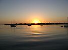 Boats and Sunrise by ValeriesGallery