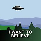 I Want to Believe  by Sarah  Mac Illustration