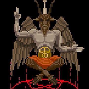 Gothic Pixelart - Baphemet by explosivebarrel