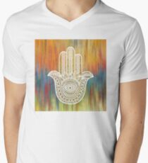 Hamsa Hand Men's V-Neck T-Shirt