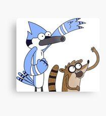 Mordecai and Rigby Metal Print