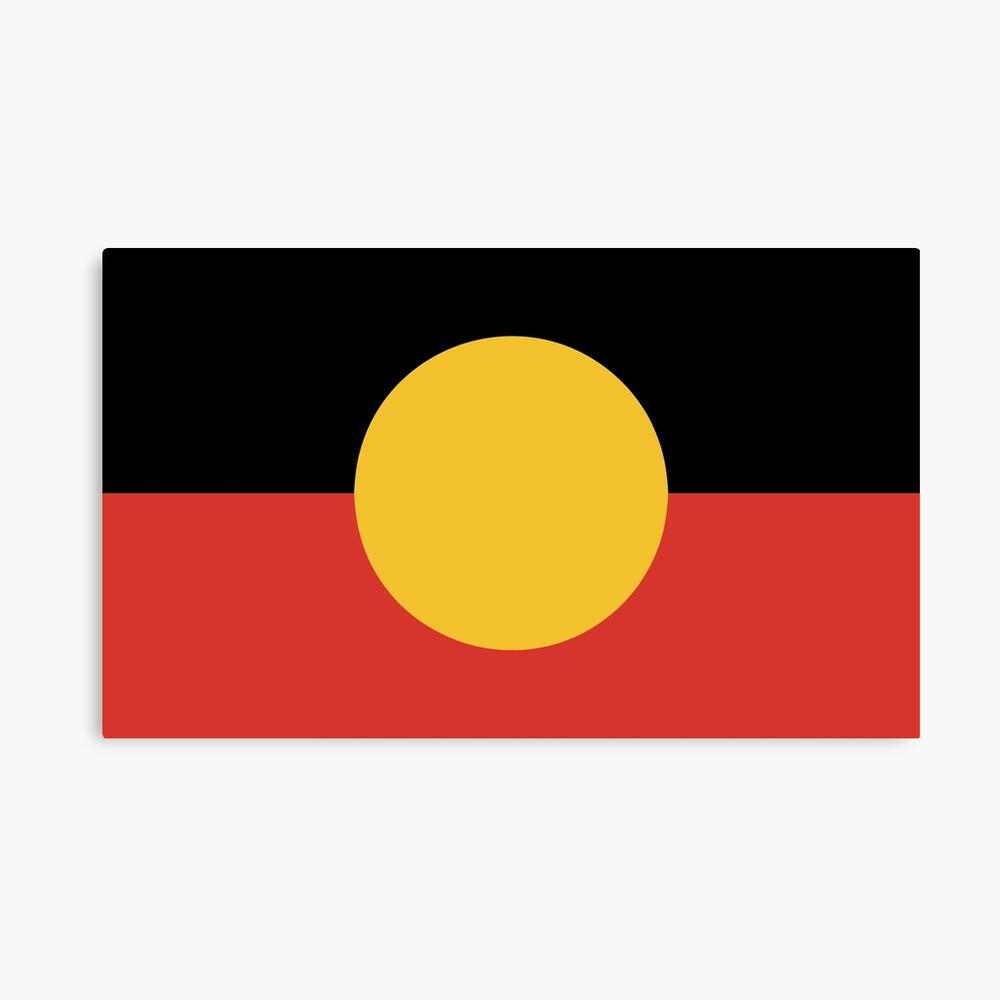 Australian Aboriginal Flag Canvas Print