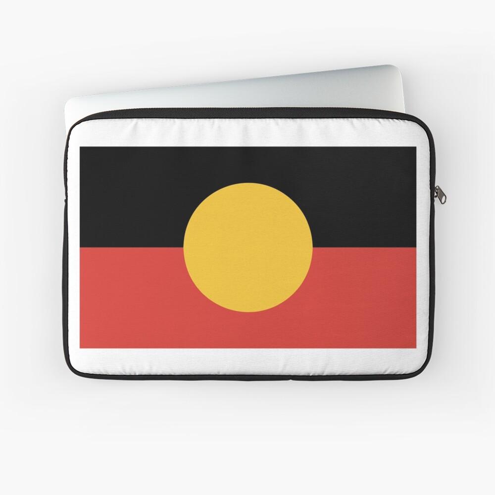 Australian Aboriginal Flag Laptop Sleeve