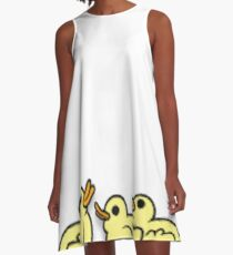 Bunch of Baby Ducks A-Line Dress