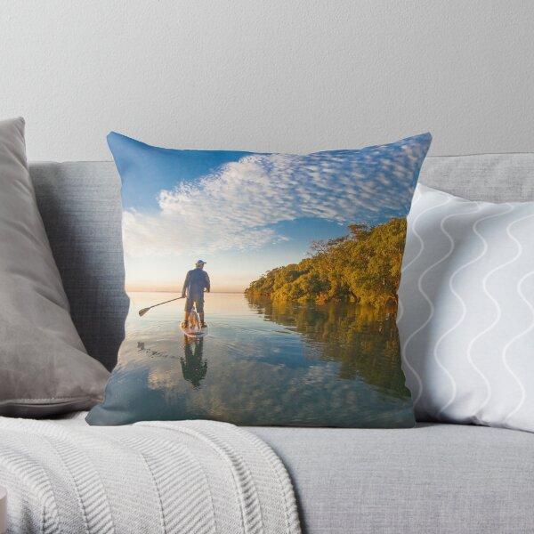 Paddlingboarding Moreton Bay Throw Pillow