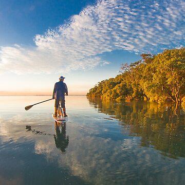 Paddlingboarding Moreton Bay by KaraMurphy