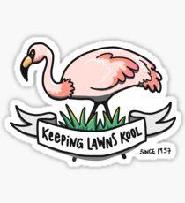 Lawn Flamingo Sticker