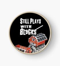 Still Plays With Blocks Clock