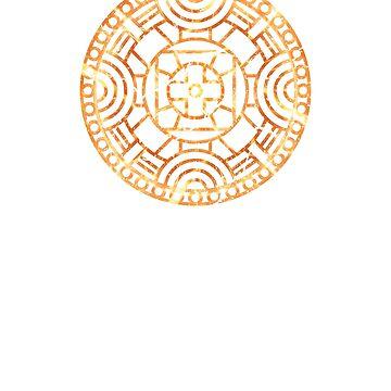 Mandala Orange Ornamental Chakra by cooplar36