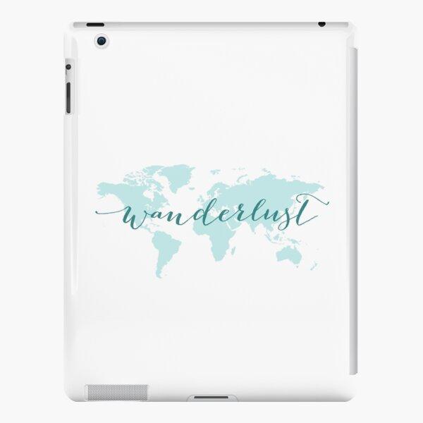 Wanderlust, desire to travel, world map iPad Snap Case