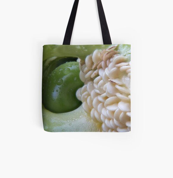 Green Pepper and Seeds 1 All Over Print Tote Bag