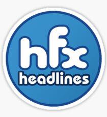 HFX Headlines - Fake Fashion Is In Sticker