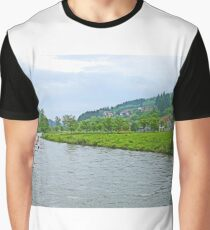 Bosnian River Scene Graphic T-Shirt
