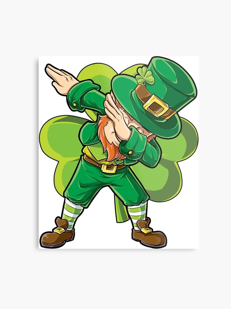 03a0766b3 Dabbing Leprechaun T-shirt Funny Dab St Patricks Day Gifts Shirt for Kids  Boys Girls