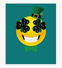 Emoji Leprechaun  Photographic Print