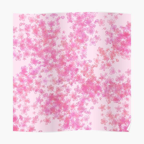 Pink Sakura Blossoms Poster
