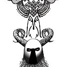 Helmet Tribal Tat by gregvanderLeun