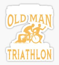 Never Underestimate An Old Man Who Can Do Triathlon Sticker