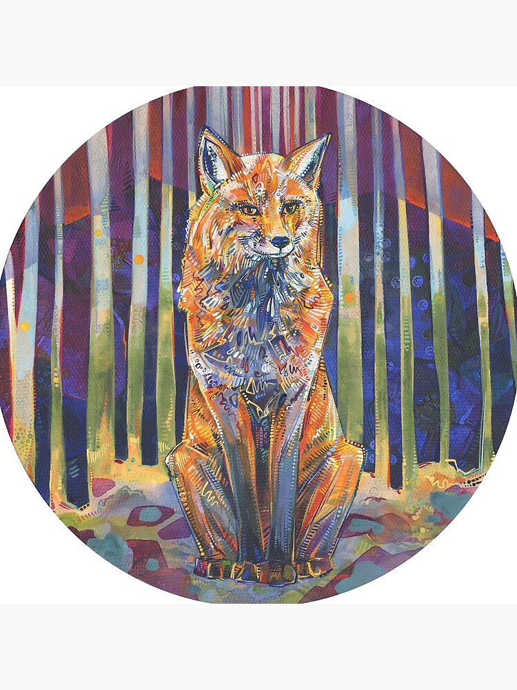 Red Fox Painting - 2018 by gwennpaints