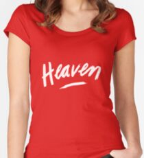 Heaven (White) Women's Fitted Scoop T-Shirt