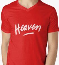 Heaven (White) Men's V-Neck T-Shirt