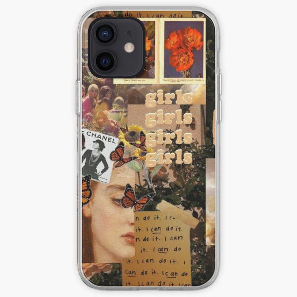 """""""Girls"""" Art Collage Style iPhone Soft Case"""