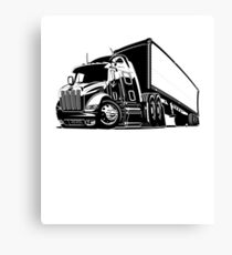 Trucker Leinwanddruck