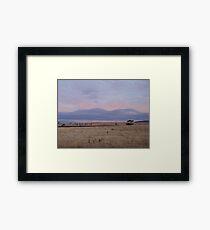 Plains of wooden clouds Framed Print