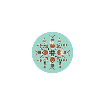 Nutcracker Pattern Snowflake on a Mint Background by kacikw
