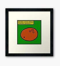 Orange Apparel- The Collection That Can Not Rhyme Framed Print