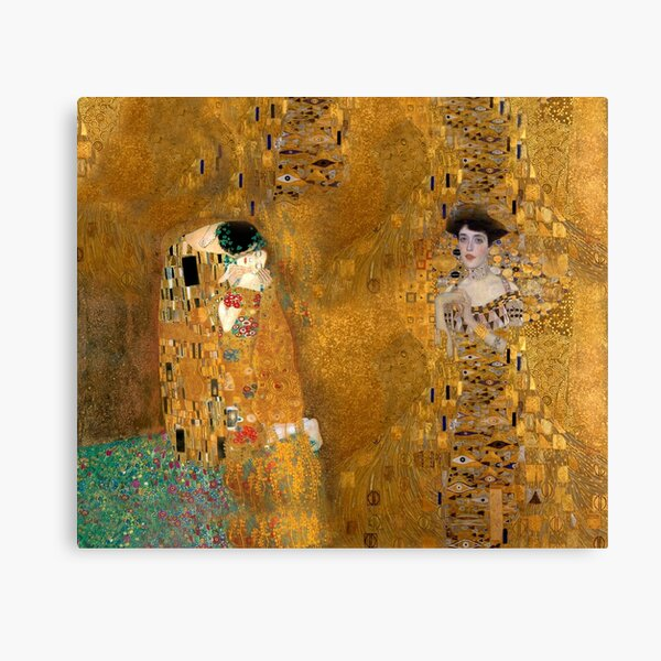 Klimt -  Woman in Gold - The Kiss Canvas Print