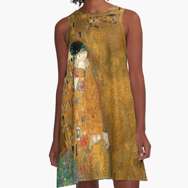 Klimt -  Woman in Gold - The Kiss A-Line Dress