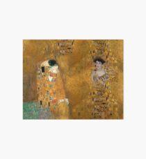 Klimt -  Woman in Gold - The Kiss Art Board Print