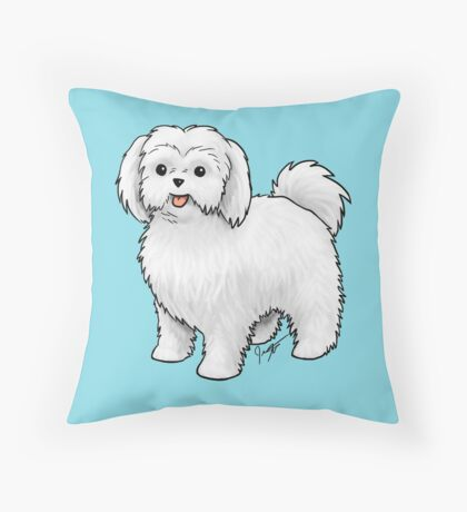 Maltese - Puppy Cut Throw Pillow
