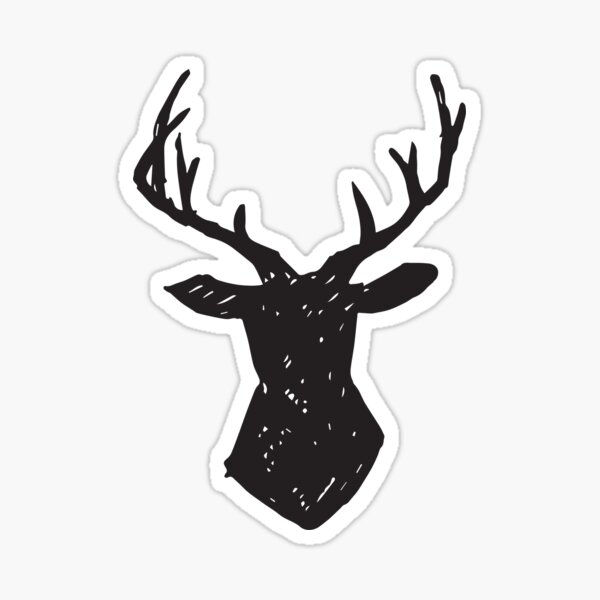 Woodland - Deer Antlers Sticker
