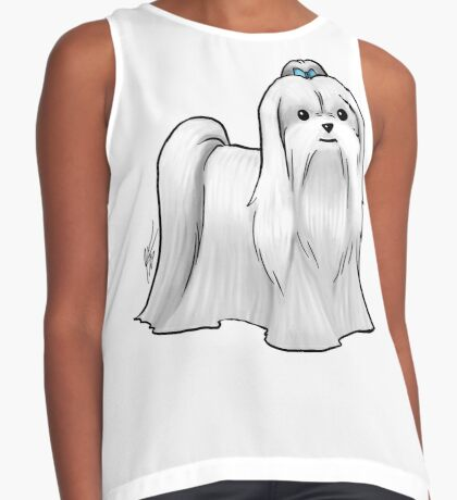 Maltese - Show Cut Contrast Tank