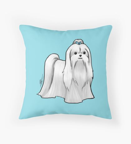 Maltese - Show Cut Throw Pillow